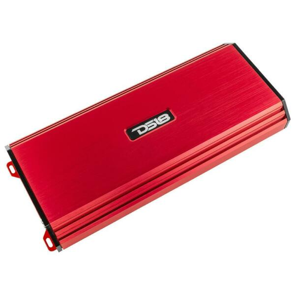 DS18 S1500.1 1500 Watt 1 Channel Monoblock Amplifier Red Pro Car Audio Mono Amp