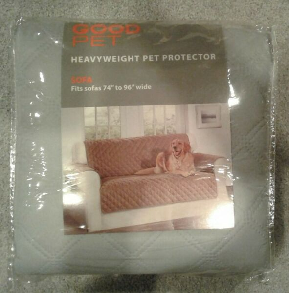 Good Pet Gray Quilted Heavyweight Sofa Pet Protector Fits 74quot; 96quot; Wide $30.00