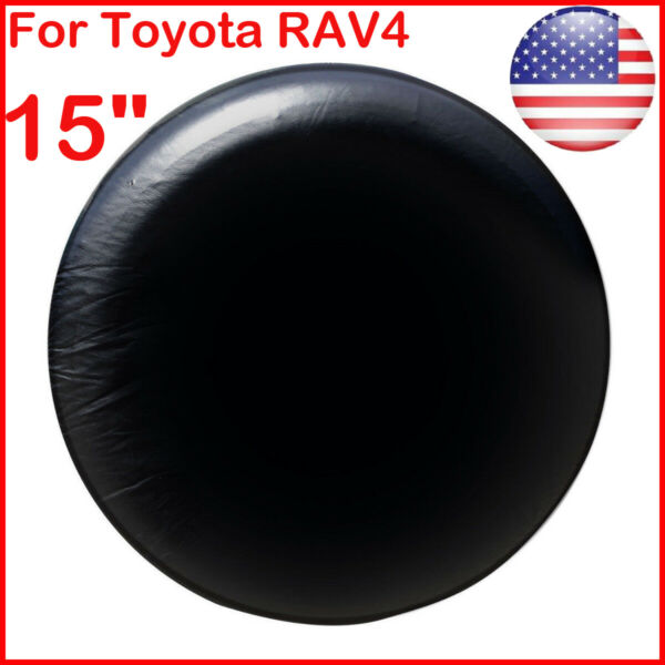15quot; DIY trailer Spare tire tyre Wheel Cover Pure black Heavy Duty Vinyl Material $12.91