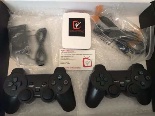 New Retropie Classic Arcade Console Over 10000 games loaded 2 wireless PS3 Pads