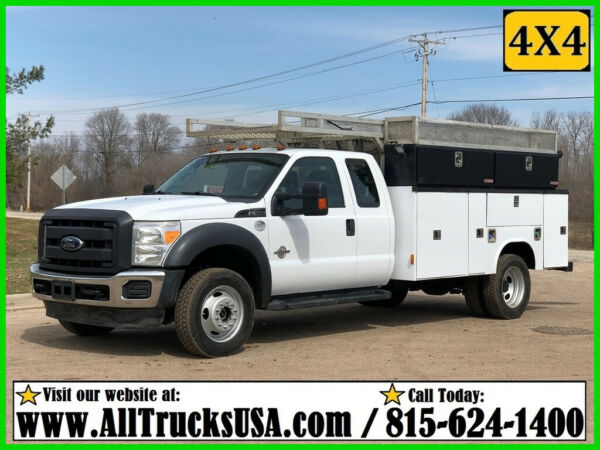2013 FORD F550 4X4 6.7 DIESEL EXTENDED CAB 11' READING BED SERVICE UTILITY TRUCK