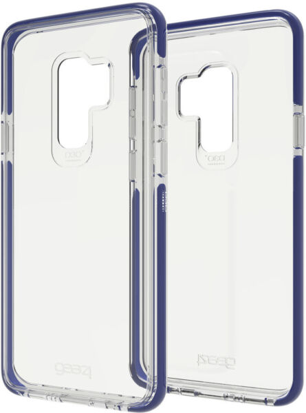gear4 by ZAGG Piccadilly D3O Military For Samsung Galaxy S9 Blue Clear #572