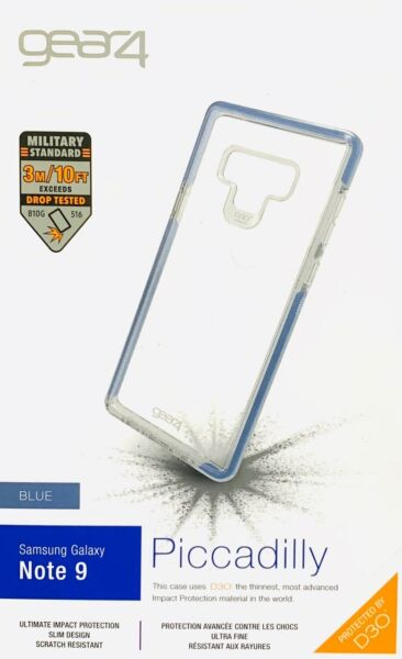 gear4 by ZAGG Piccadilly D3O Military For Samsung Galaxy Note 9 Blue Clear #319