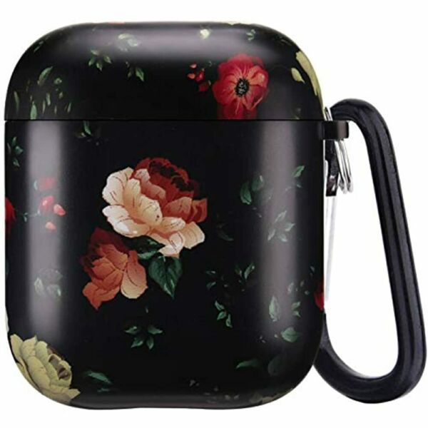 Airpods CaseSunflower Vintage Floral Pattern Cute For Women Girls Soft Silicone $13.36