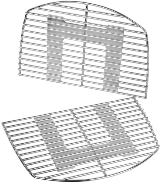 Stainless Steel Cooking Grates Grid 15.3quot; 2 Pack for Weber Q200 Q220 Q2000 Q220