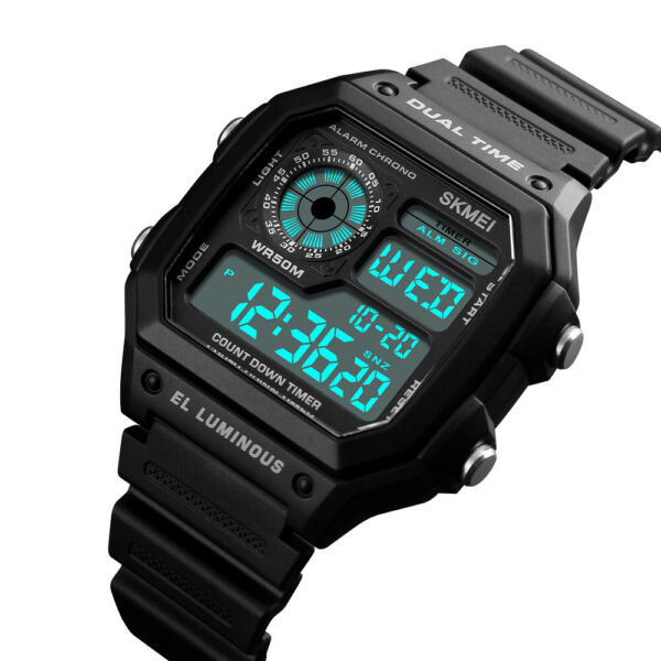 SKMEI Men#x27;s Date Sport Quartz Square Military Waterproof Digital Fashion Watch