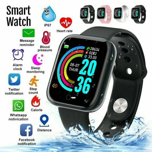 Smart Watch Y68 Waterproof Heart Rate Tracker Fitness Wristband for IOS Android $8.49