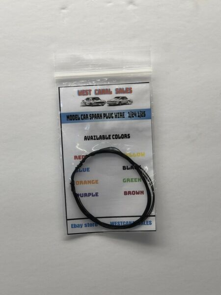 5 Feet Black Spark Plug Wire For 124 125 Scale Model Car