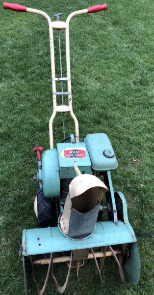 "1954 REO Snow Throw 20"" Snow Blower With Rare REO Vintage Gas Engine"