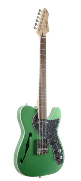 NEW Firefly FFTH Semi-Hollow body Guitar Electric Guitar (Metallic Green)