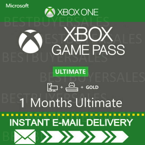 Xbox Live 1 Month Gold amp; Game Pass Ultimate 2 x 14 Day INSTANT EMAIL DELIVERY $5.40