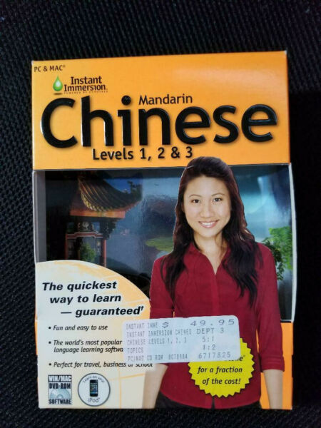 Instant Immersion Chinese Mandarin Levels 1 2 3 for Win PC amp; Mac DVD $4.99