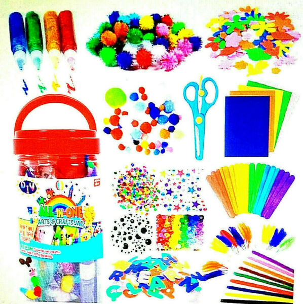 FunzBo Arts and Crafts Supplies for Kids - Craft Art Supply Kit for Toddlers Age