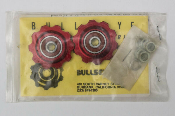 Bullseye Pulleys NOS *RED* For Vintage Campy Shimano Suntour & Others