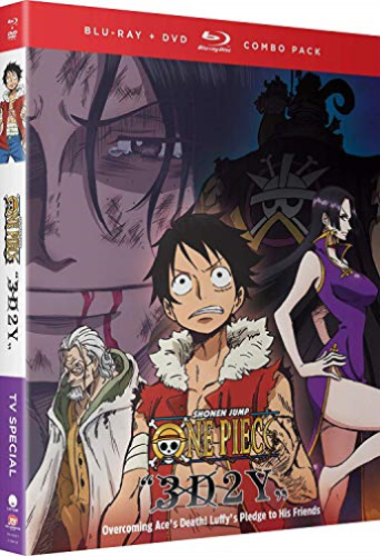 ONE PIECE: 3D2Y: OVERCOMING ACE`S DEA  Blu-Ray + DVD + SLIPCOVER  NEW
