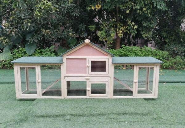 Giant Wood 2-Story XL Wooden Deluxe Outdoor Rabbit Bunny House Hutch Pet