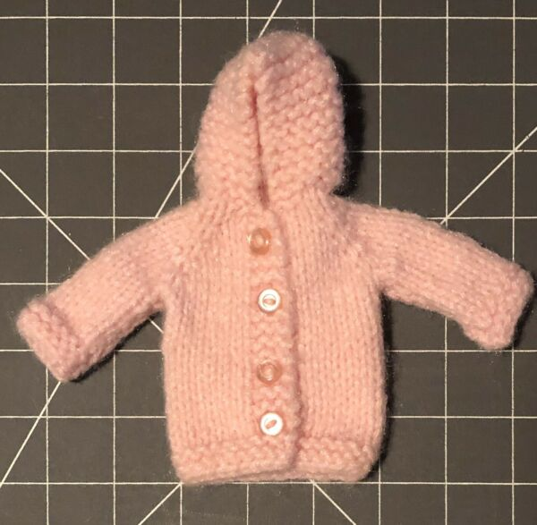 Vintage Hand Knitted Doll's Cardigan Sweater