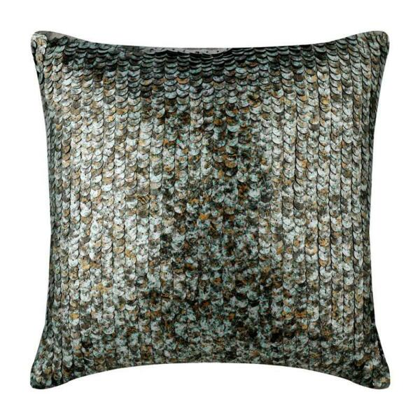 12x12 inch Silver Handmade Cushion Pillow Cover Silk Scales Antique Scales