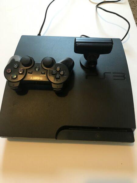 Sony PlayStation 3 PS3 Black Slim System 320GB CECH-3001B Console TESTED