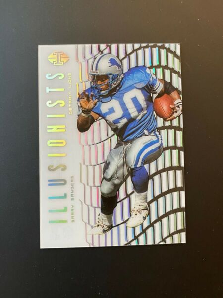Barry Sanders 2018 Panini Illusions Illusionists Detroit Lions NFL
