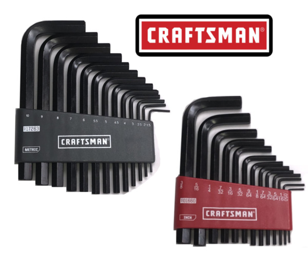 Craftsman 26pc or 13pc SAE amp; METRIC MM Allen Hex Key Wrench Set NEW
