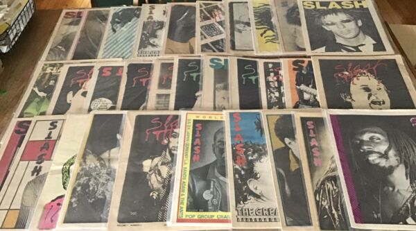 SLASH Magazine - Rare Complete Run! With Extras 1977-1980 LA Punk Rock LP Music