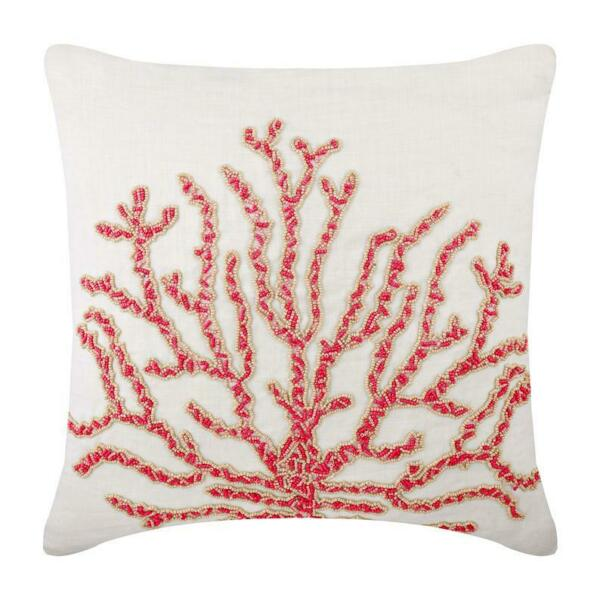 Linen Couch Pillowcase Designer 18x18 inch Red Coral Coral Secrets $82.02