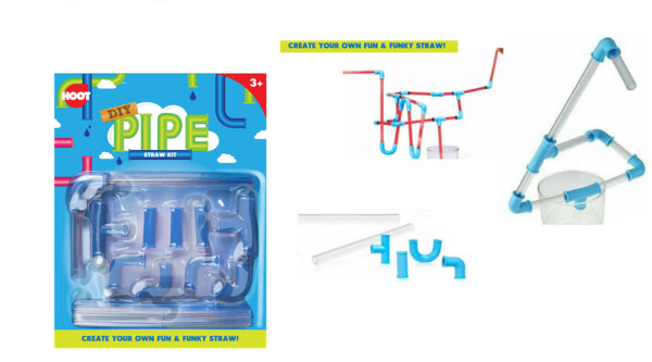 DIY Pipe Straw Kit Reusable Create Your Own Fun amp; Funky Straw Bendy Party GBP 2.45