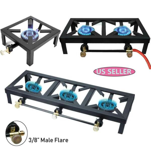 Portable Propane Cooker Burner Stove Gas Outdoor Cooking Camping Stand BBQ Grill $30.99