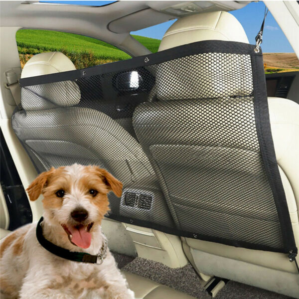 Pet Dog Safety Travel Isolation Net Car Back Seat Barrier Mesh Guard Protector $9.99