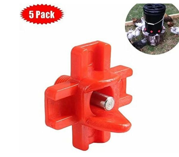 5 pack Horizontal Side Mount Chicken Nipples Water Automatic Poultry  $9.95