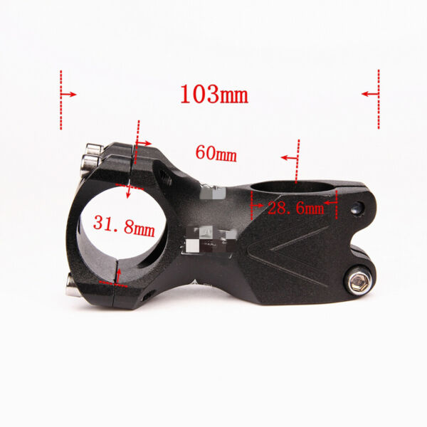 Cycling Bicycle Alloy MTB Mountain Bike Riding Handlebar Stem 60*31.8 7 Degrees $11.99