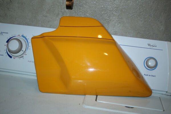 YELLOW LEFT SIDE HARLEY COVER 2009 OR NEWER TOUR STREET KING CLASSIC GLIDE $29.50