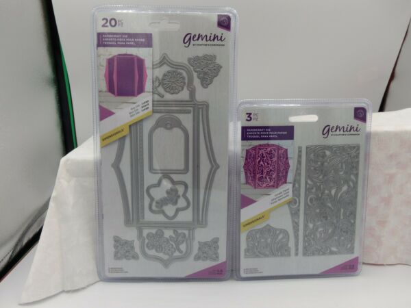 BUNDLE LARGE BOX DIE ORNATE PANEL DIE TO SOMEONE SPECIAL ACRYLIC STAMPS BY