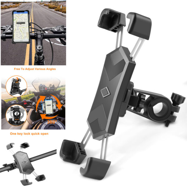 Universal Abjustable Bicycle Motorcycle Cell Phone Holder Stand Bike Mount GPS $13.97