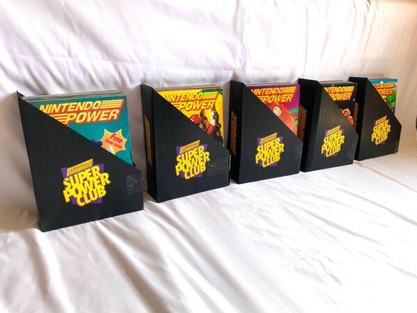 Nintendo Power Magazine Vol 1-50 with Vintage Holding Cases and INDEX!!!