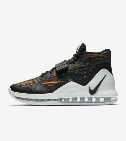 Nike Air Force Max AR0974-100 White Black Multi-Color Men's Basketball Shoes