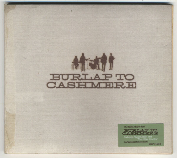 Burlap To Cashmere Self Titled 2011 CD Digipak With Hype Sticker Mumford