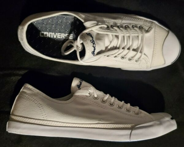 Converse Jack Purcell Men's 8.5 Women's 10.5 Classic Shoes White 146430C SPOT!