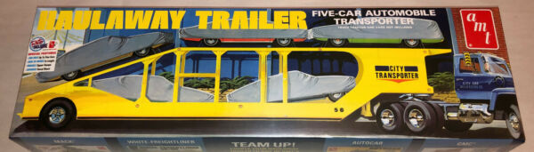 AMT Haulaway Trailer 5 Car Automobile Transporter 1:25 scale model kit 1193 $35.99