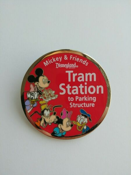 Disney DLR Mickey Minnie Chip Dale Goofy Tram Station Sign Surprise Release Pin