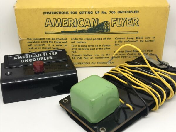 American Flyer Vintage #706 Remote Control Automatic Uncoupler w Box $8.00