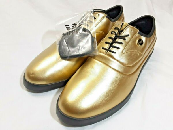 New Rare Supra Size 11 Jim Greco Skate Shoes 7th Pro-Model Gold Leather Mens