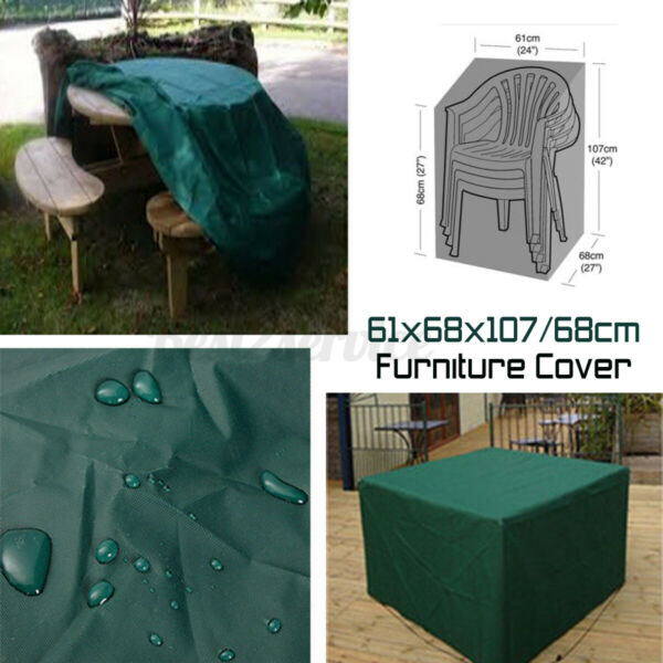 US Waterproof Garden Furniture Covers Patio Outdoor Table Chair Protector Green