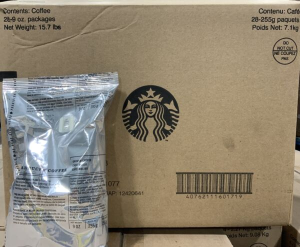 Starbucks Coffee Cafe Verona Ground Coffee 28 x 9oz Bags Totaling 15.7lbs 9 2020