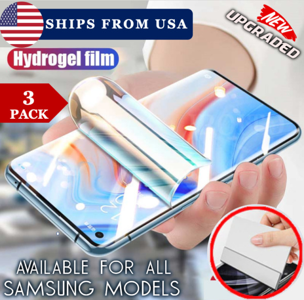HYDROGEL FLEX Samsung Galaxy S8S9S10S20 Ultra Note 8910+ Screen Protector $7.99