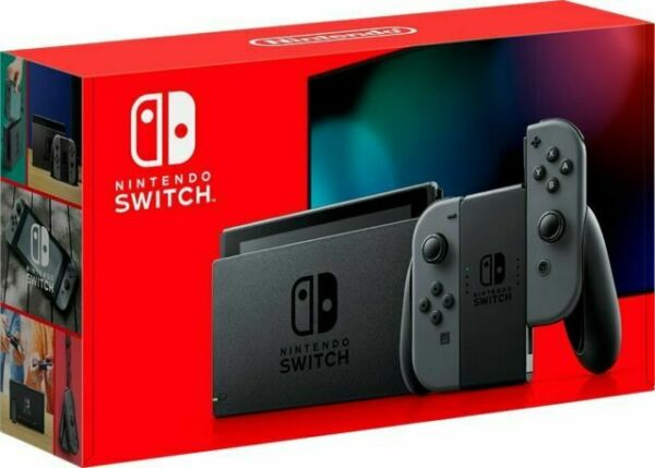 NEW - Nintendo Switch Gray Joy-Con Console - V2 Latest Version - IN HAND