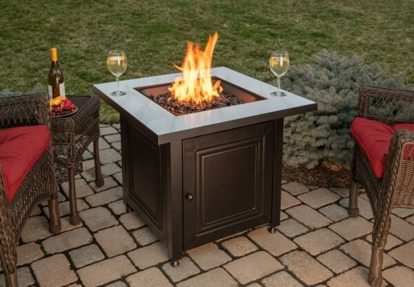 Blue Rhino Fire Table Bristol 50k btu LP Propane 30 Inch Patio Deck Firepit