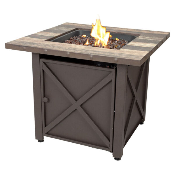 Blue Rhino Fire Table 30 In Endless Summer Square LP Gas with Stamped Steel Base