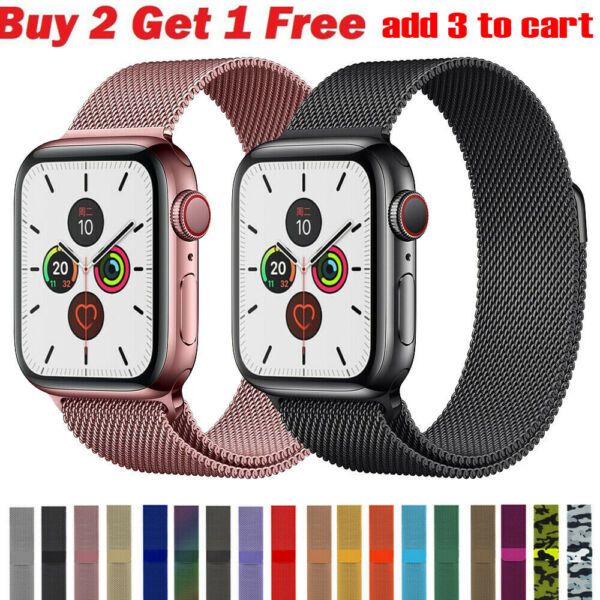 Milanese Loop Band iwatch Strap For Apple Watch Series 6 5 4 3 2 1 38 42 40 44mm $9.88
